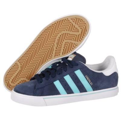 No haga haz muerto  Adidas Campus Vulc Gonzales Skate Shoes - Collegiate Navy/Ocean/Running  White