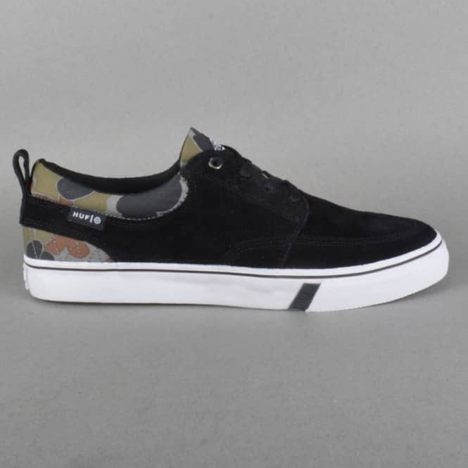 Ramondetta Pro Skateboard Shoes - Jet Black/Camo
