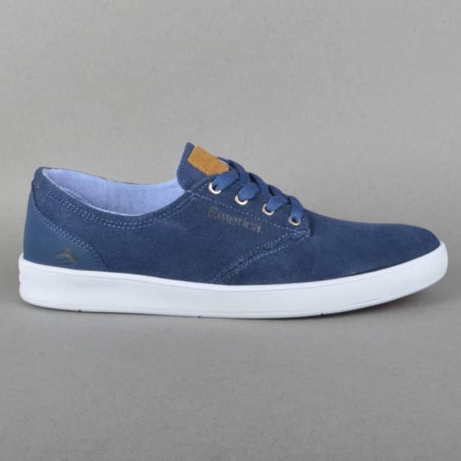 The Romero Laced Skateboard Shoes - Blue/Blue/White