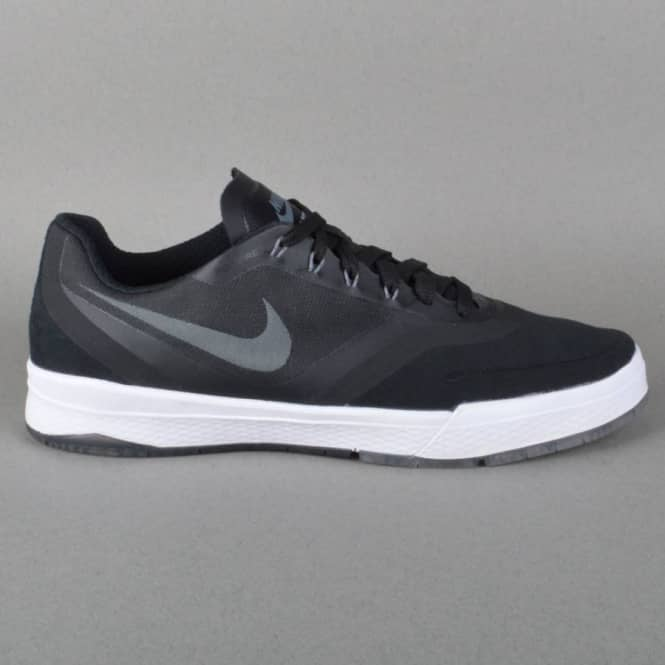Paul Rodriguez 9 Elite Skate Shoes - Black/Cool Grey-White
