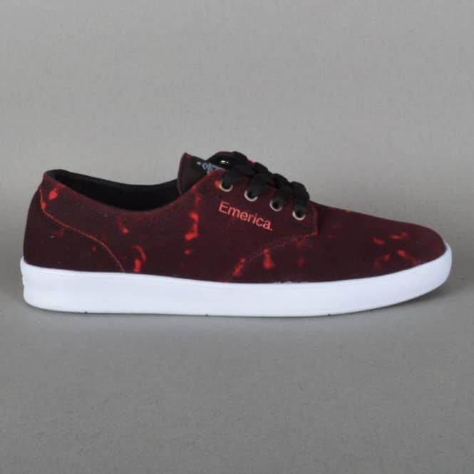 The Romero Laced x Toy Machine Skateboard Shoes - Black/Red