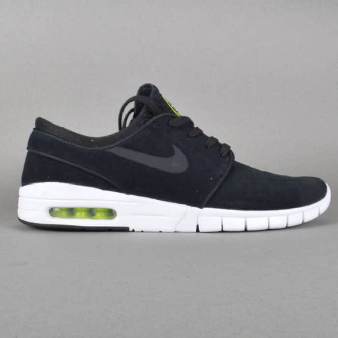 Janoski Max L Skateboard Shoes - Black/Black-Cyber-White