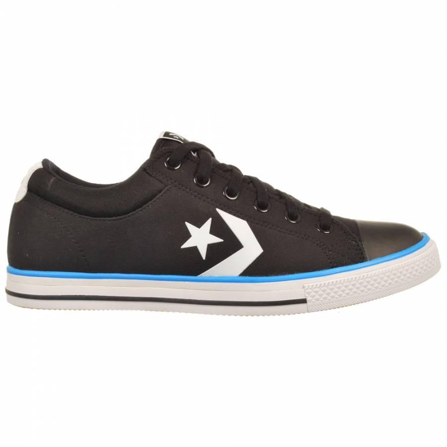 Converse Star Player S Xlite OX Black White French Blue Skate Shoes ... 66fba495e