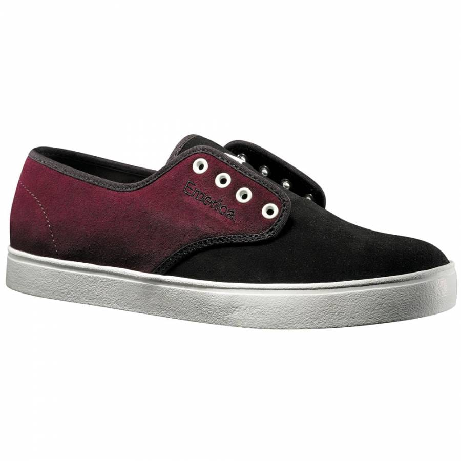emerica laced black purple skate shoes mens skateboard