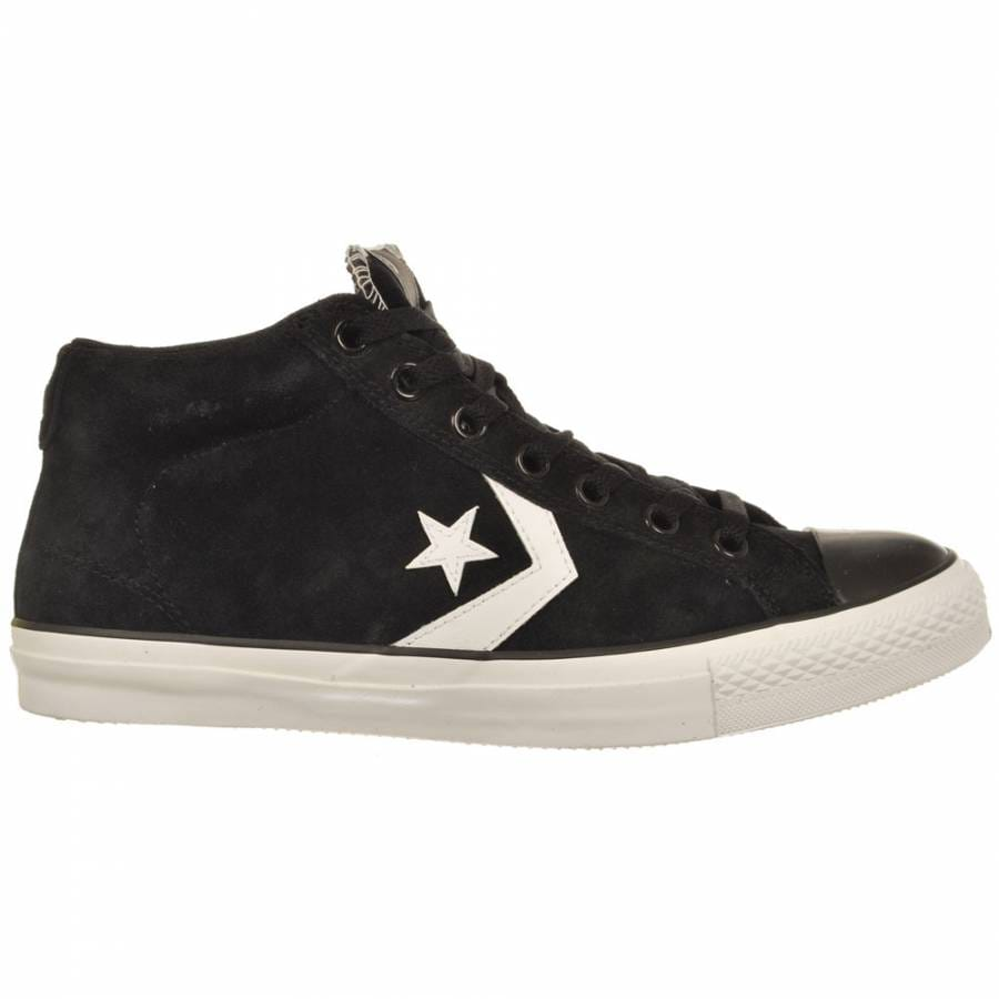 Converse Star Player Mid Black/White Skate Shoes - Mens ...