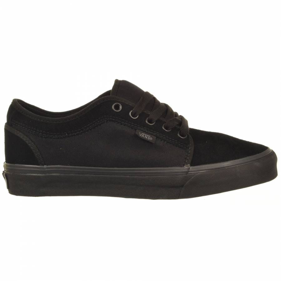vans chukka low black black skate shoes mens skateboard