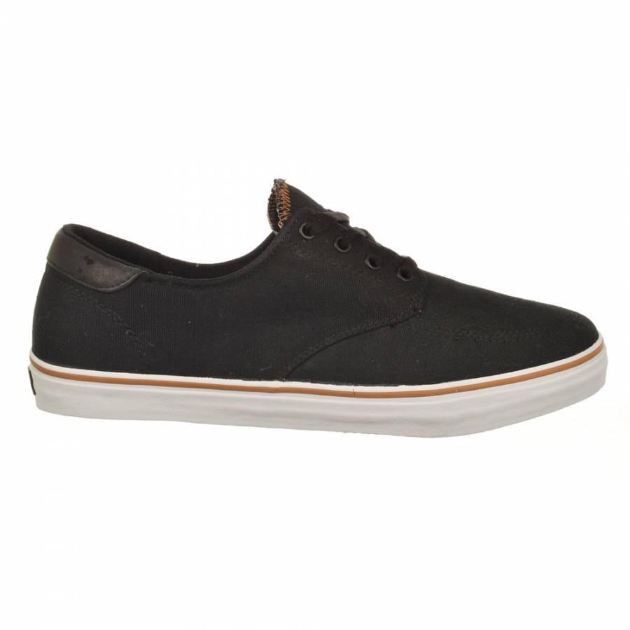 lakai belmont skate shoes black canvas mens skateboard