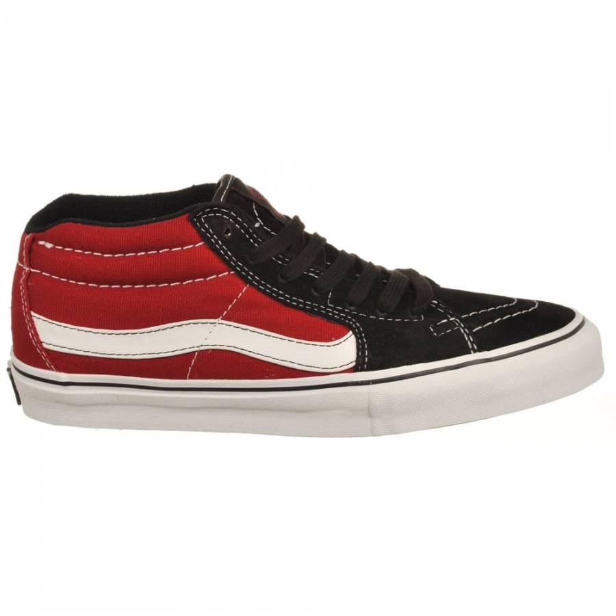c3e8454652 Vans Sk8-Mid Vert Pro Grosso Red Skate Shoes - Mens Skateboard Shoes ...