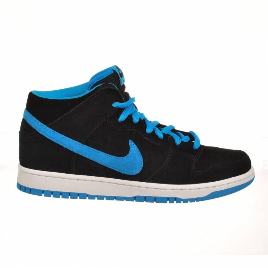 nike dunk mid pro sb black blue skate shoes mens