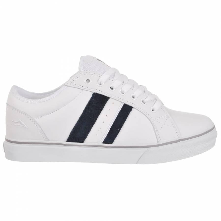 lakai mj2 select skate shoes white leather mens