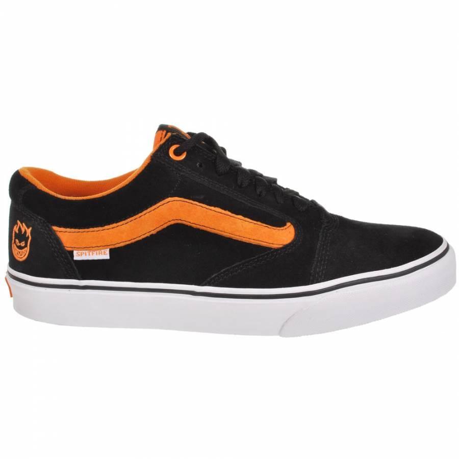 06e3cbc80e Vans TNT 5 Spitfire Black Flame Skate Shoes - Mens Skateboard Shoes ...
