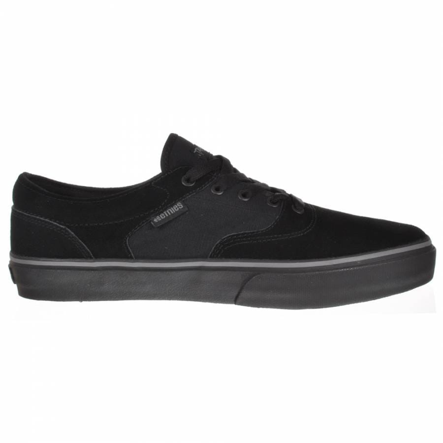 etnies ls black black skate shoes mens skateboard