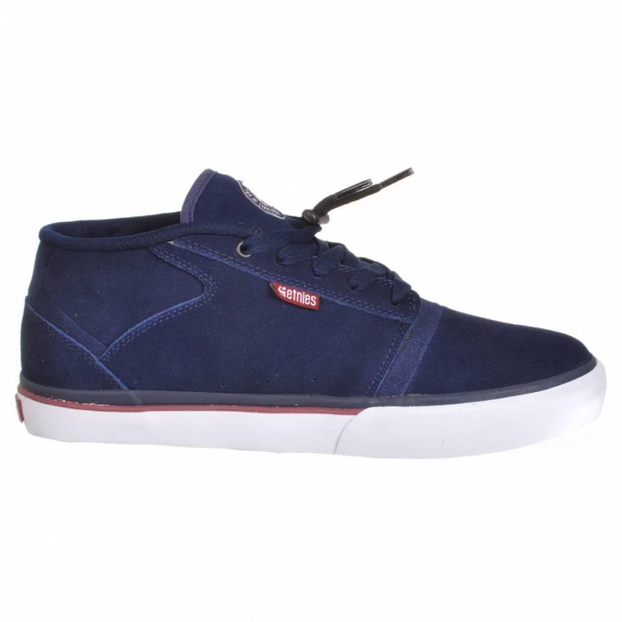 etnies bledsoe mid navy white skate shoes mens