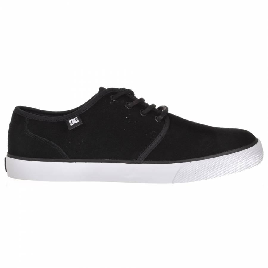 dc studio s black white skate shoes