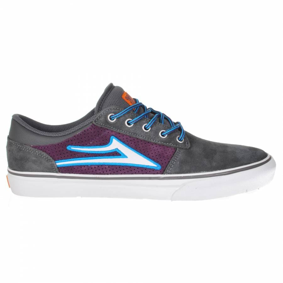 lakai grey purple suede skate shoes