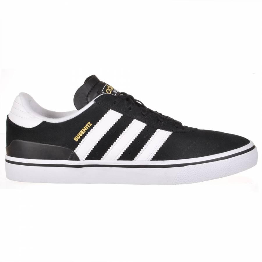 adidas skateboarding busenitz vulc black running white